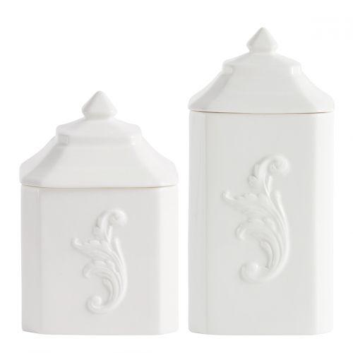 Set 2 pots à coton Élégance