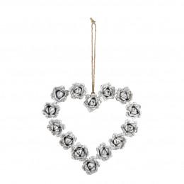 Couronne métal Romance Cœur - Moyen modèle