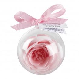 Boule de savon Rose  parfumée rose et blanche  - parfum Rose