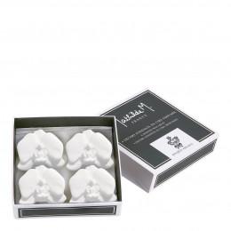 Boîte 4 décors fondants Orchidée - Bouquet Précieux