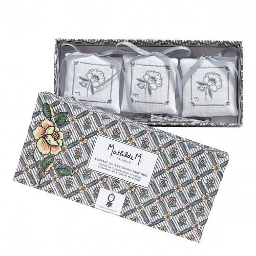 Coffret de 3 coussins parfumés Paradis Fleuri - Divine Marquise