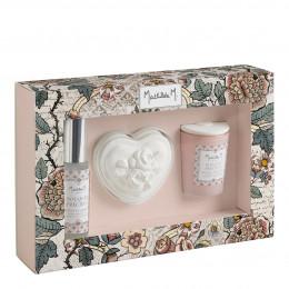 Coffret parfumé romantique Jardins de Fantaisies - Bouquet Précieux