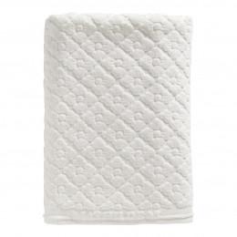 Serviette de bain Douceur Florale blanc