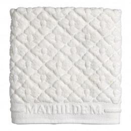 Tapis de bain Douceur Florale blanc