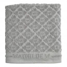 Tapis de bain Douceur Florale gris
