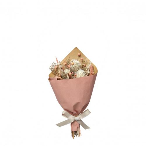 Bouquet de fleurs séchées corail - Petit modèle