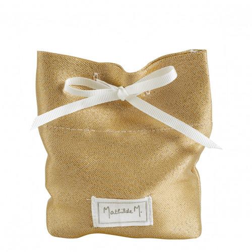 Pochon doré pailleté pour décors parfumés