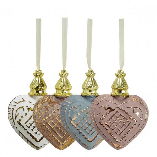 Set de 8 cœurs à suspendre Cabinet des Merveilles