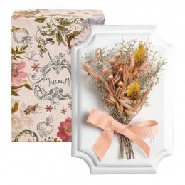 Petit bouquet mural Cabinet des Merveilles pêche