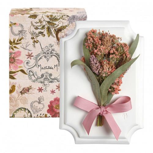 Petit bouquet mural Cabinet des Merveilles rose